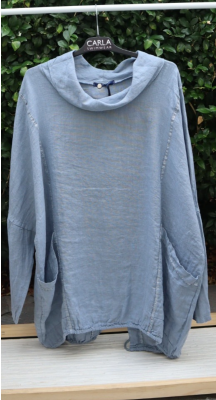 Relaxed Lounger Linen Top - Made it Italy