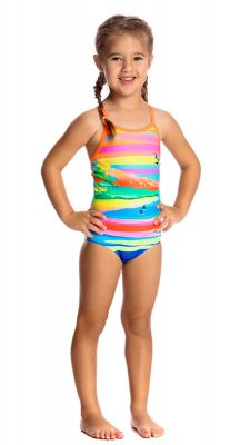 Funkita Toddler Girls Pina Colada Chlorine Resistant Swimsuit