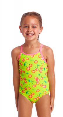 Funkita Toddler Girls Cherry Top Printed One Piece