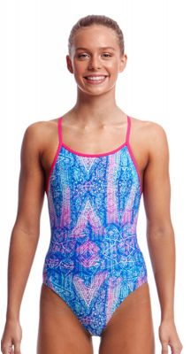Funkita Girls Dye Tie Diamond Back One Piece