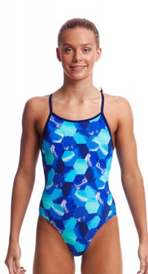 Funkita Girls Hex Pistols Diamond Back One Piece