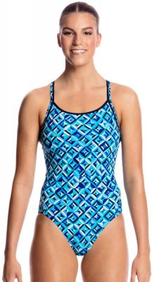 Funkita Ladies Diamond Back Ice Attack Chlorine Resistant Swimsuit