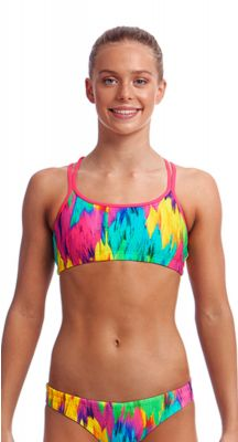 Funkita Girls Ruffles Criss Cross Two Piece