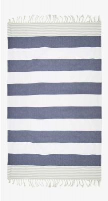 Aegeanblue Island Hopper Traditional Turkish Towel with Zip Pocket- Beige Grey