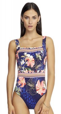 Jets Desert Bloom Square Neck One Piece Swimsuit