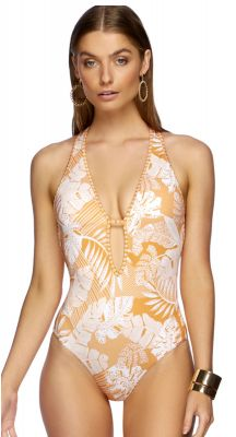 Jets Tranquillity Plunge One Piece Swimsuit