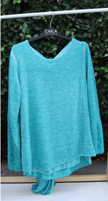 Weekend Double Layer Knit - Made in Italy