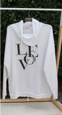 Love Hoodie Top - Made In Italy