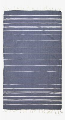 Aegeanblue Mykonos Traditional Turkish Towel - Dark Blue