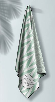 Sky Gazer Luxury beach Towel in Pouch - Noosa Mint
