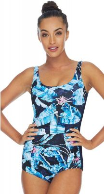 Poolproof Tropican Pintuck Chlorine Resistant Swimsuit - Mastectomy Suitable