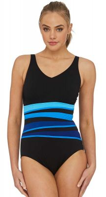Poolproof Le Vogue Spliced One Piece Swimsuit - Chlorine Resist