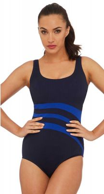 Poolproof Le Vogue DD-E Cup Fitting Wave One Piece Swimsuit - Chlorine Resist