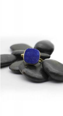 aegeanblue Blue Druzy Ring Gold Plated – Sterling Silver 925