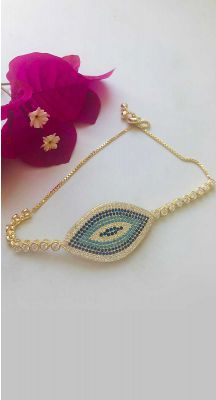 aegeanblue Samos Eye Bracelet - Gold