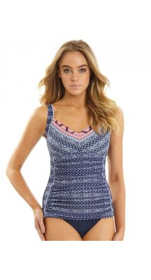 Sunseeker Budapest DD/E cup Underwire Singlet Tankini Top