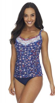 Sunseeker Crusade DD-E Cup Fitting Underwire Singlet Tankini Top