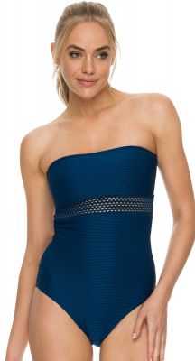 Sunseeker Crest Bandeau One Piece Swimsuit