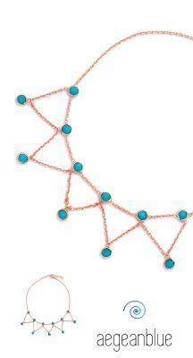 aegeanblue Turquoise Shaker Chain Anklet