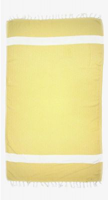 Aegeanblue Woven Village Traditional Turkish Towel - Yellow