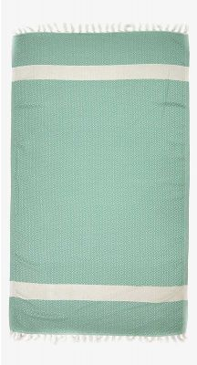 Aegeanblue Woven Village Traditional Turkish Towel - Green